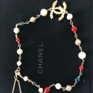 CHANEL multi-color short necklace